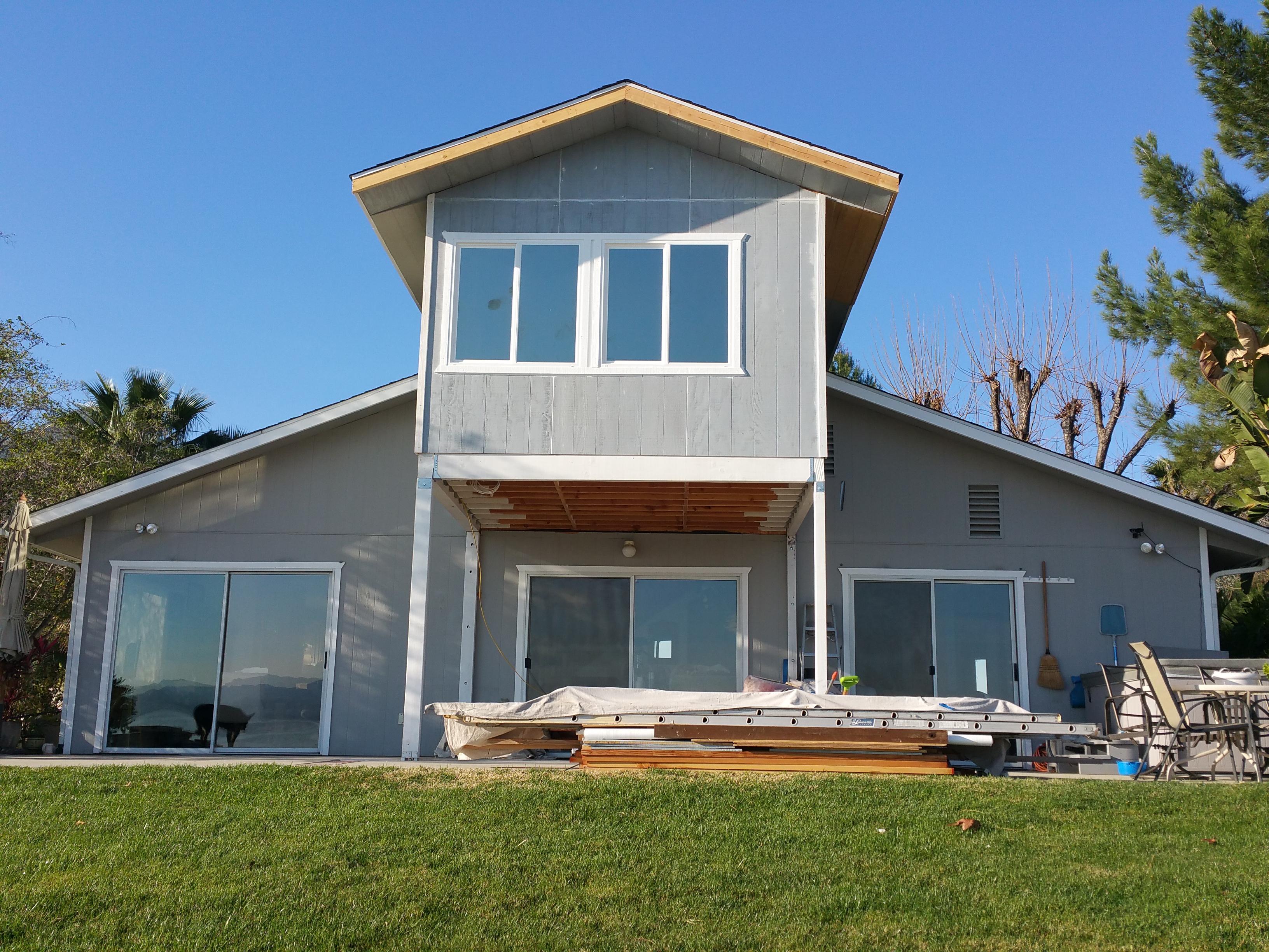Adding a second story sunroom in lake elsinore ca sunboss for Two story sunroom