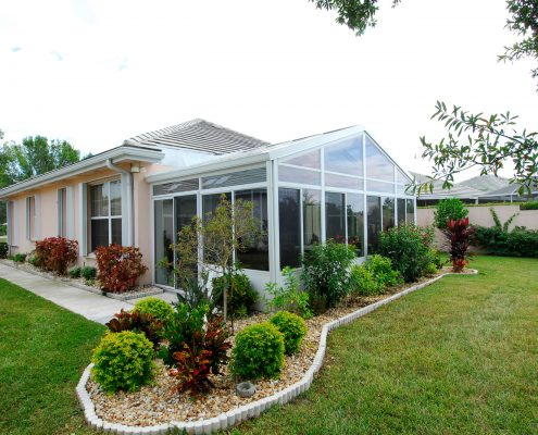 Glass Cathedral Roof Sunroom or Patio Room with Aluminum Frame