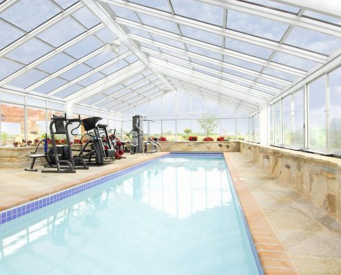Hybrid Glass Cathedral Roof Sunroom or Patio Enclosure