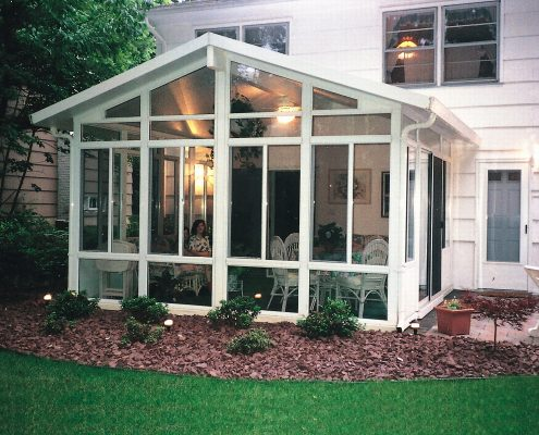 Solid Cathedral Roof Sun Room or Patio Room with Aluminum Frame