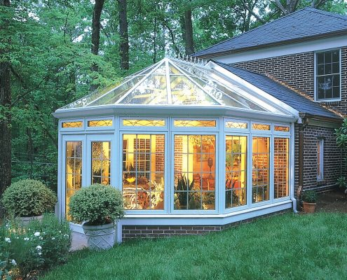 Victorian Conservatory With Wood Interior