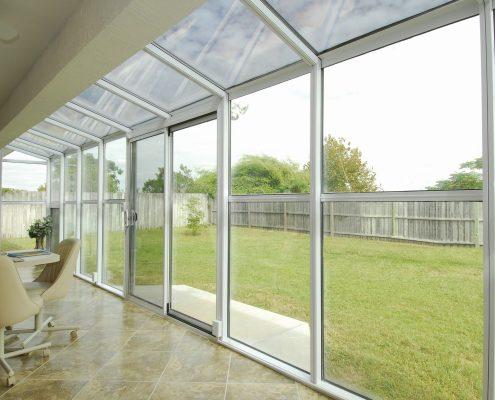 Aluminum Straight Glass Roof Sunroom