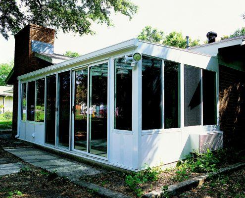 Hybrid Straight Solid Roof Solarium or Patio Enclosure