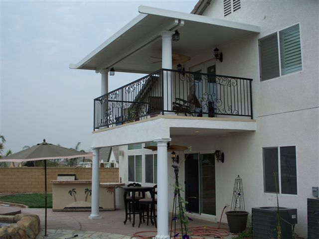 Second Story Patio Cover and Railing Installation