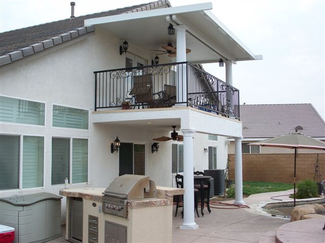Second Story Deck With Roof In Chino Hills