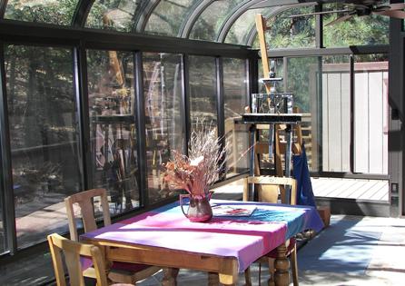 Big Bear Curved Eave Sunroom Installation