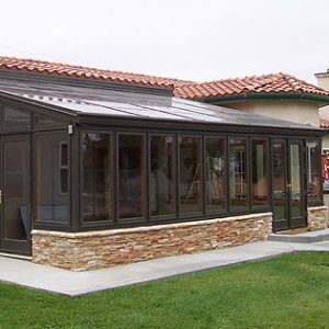 Menifee Sunroom Install with Wood Interior
