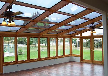Menifee Sunroom Install with Wood Interior