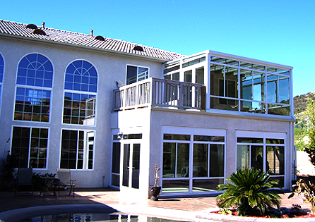 Yucaipa Second Story Sunroom Installation