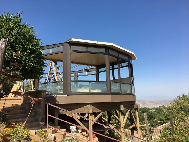Hillside Sun room Design Corona, CA