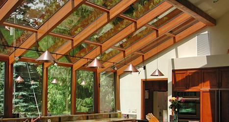 Wood Interior Sunrooms, Solariums and Patio Rooms